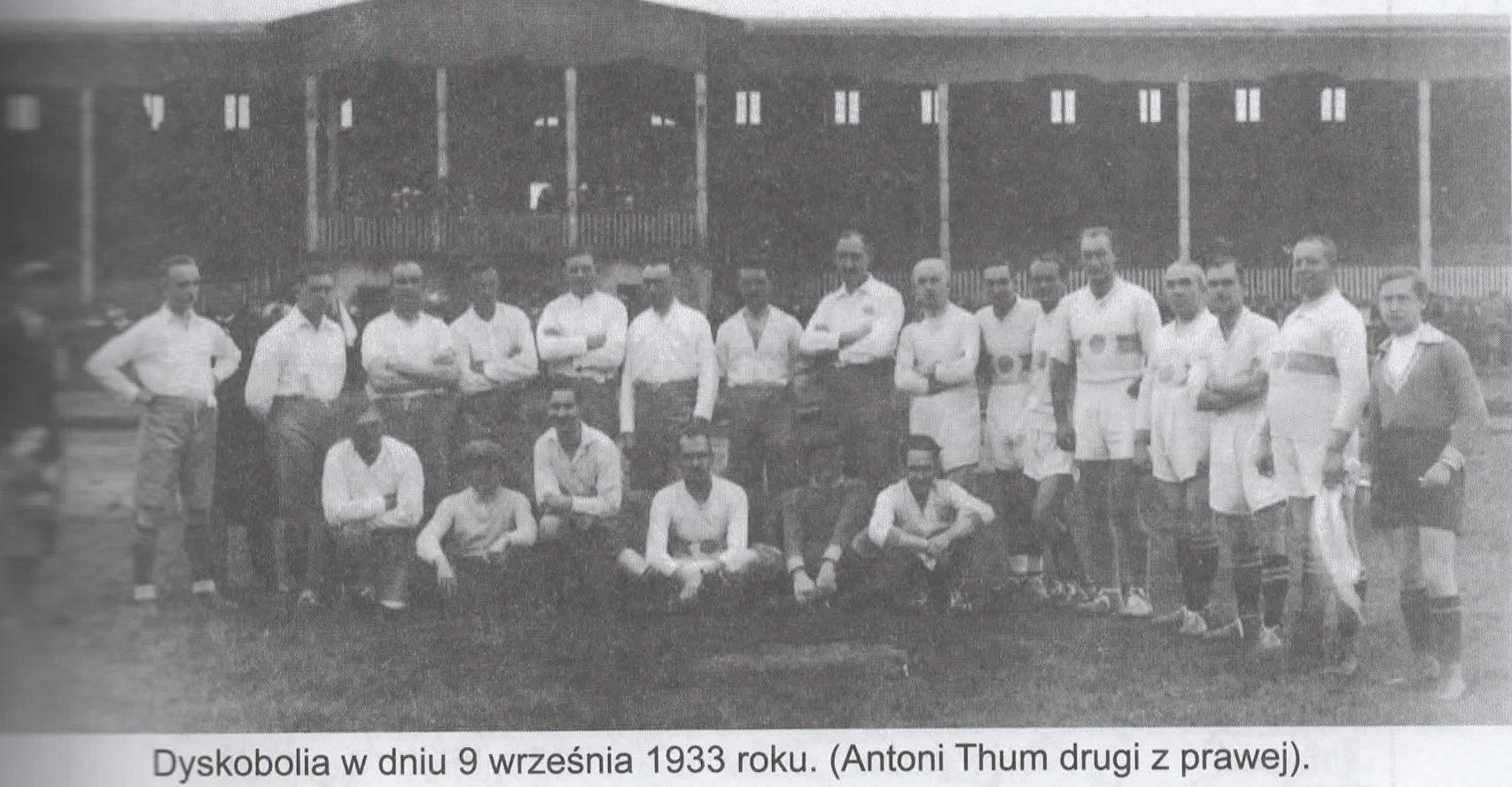Antoni Thum, Prezes Dyskobolii 1932-1935
